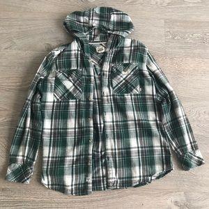 Aritzia TNA Boyfriend Hooded Shirt
